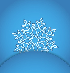 Template frame design with christmas snowflake vector image vector image
