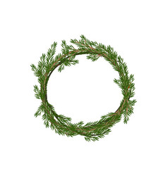traditional merry christmas wreath spruce vector image vector image