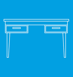 Wooden table icon outline vector