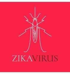Zika virus mosquito poster vector
