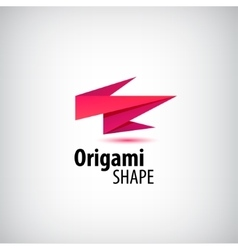 Abstract origami logo 3d company identity vector