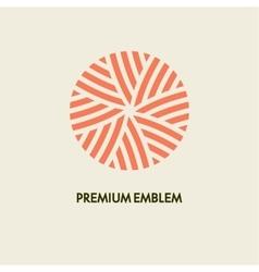 Conceptual template round logo design and vector