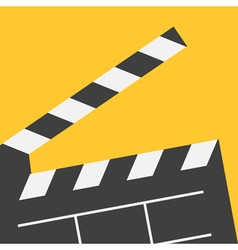 Big open clapper board movie cinema collection vector