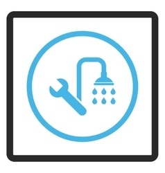 Plumbing framed icon vector