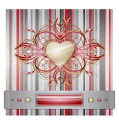 Red - gray background with heart vector image