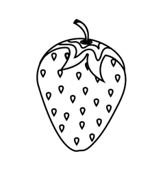 Strawberry fresh fruit isolated icon vector