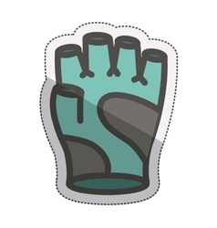 Isolated glove design vector