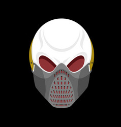 Skull protective mask hell defender terrible vector