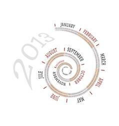 2013 calendar spiral vector image