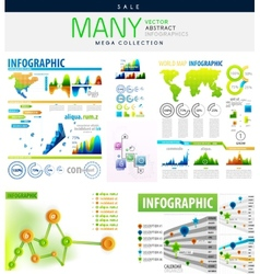 Infographics collections vector image