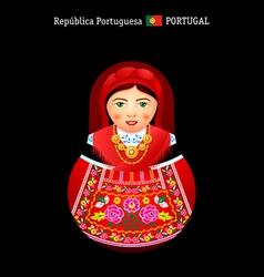 Matryoshka portugal vector