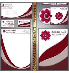 Corporate brand purple template vector