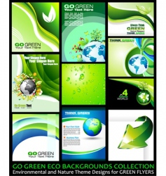 Eco backgrounds vector