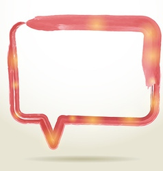 Blank empty white speech bubbles watercolor on vector