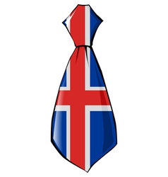 Necktie in national colours of iceland vector