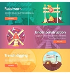 Construction and building banners set vector