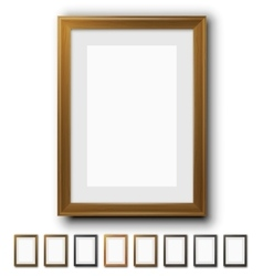 Brown frames vector