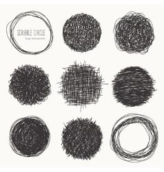 Set of hand drawn logo templates vector image