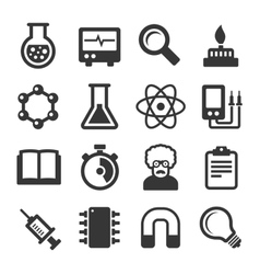 Science icons set on white background vector