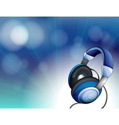 A blue headset vector image vector image