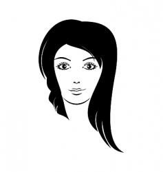 beautiful girl female icon vector vector image