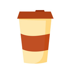 Blank coffee cup flat icon vector