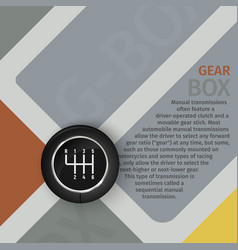 brochure manual gearbox top vector image vector image