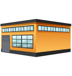 Building painted in yellow color vector
