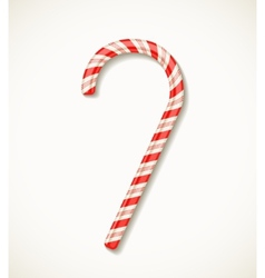 candy cane isolated on white vector image vector image