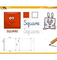 Cartoon basic geometric shapes vector