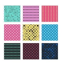 Color polka dots seamless pattern vector