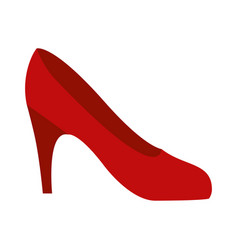 colorful silhouette of high heel red shoe vector image