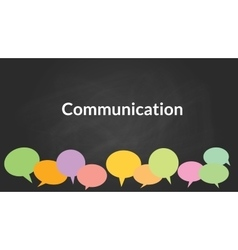 Communication concept with bublle symbol with vector