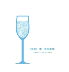 Doodle circle water texture wine glass silhouette vector