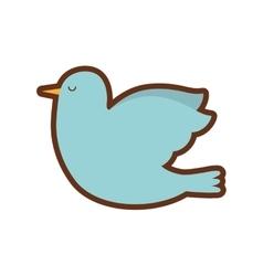dove bird isolated icon vector image vector image