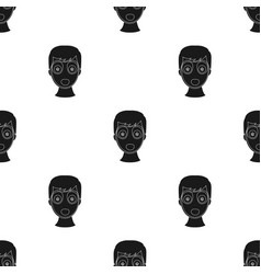 Facial mask icon in black style isolated on white vector