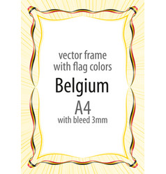 frame and border of ribbon with the colors of the vector image