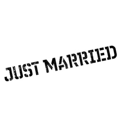Just Married rubber stamp vector image