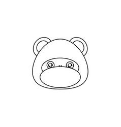 Monkey drawing face vector