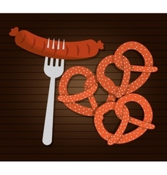 Sausage food germany graphic vector