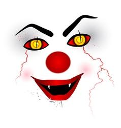 Scary face clown vector