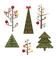 Set of christmas tree vector