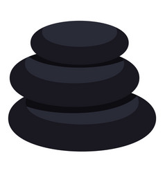 Stack of black basalt balancing stones icon vector