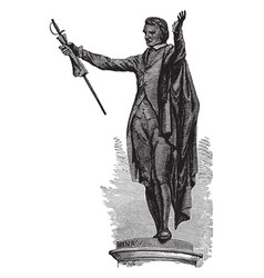 Statue of patrick henry at richmond is a american vector