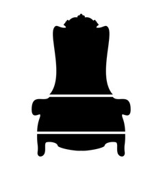 Throne the black color icon vector