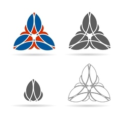Set of geometrical figures ornament vector
