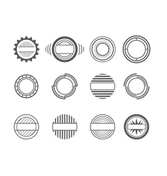 set of different labels without text vector image