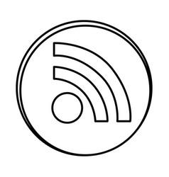 Silhouette symbol wife icon vector