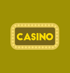 Flat icon stylish background poker casino sign vector