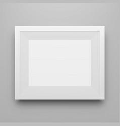 Blank white modern picture frame mockup vector